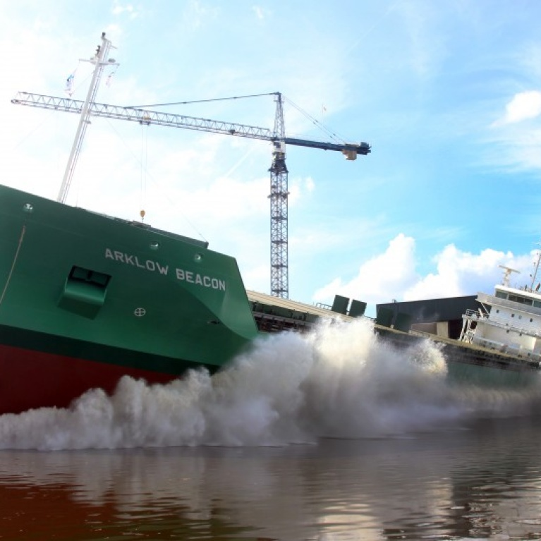Movies launch Arklow Beacon (NB412)