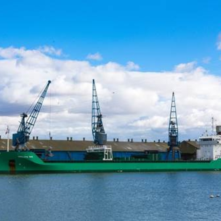 Arklow Bay delivers largest shipment of stone in Ipswich.